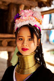 Long neck woman in Thailand Royalty Free Stock Images