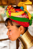 Long neck woman in Thailand Royalty Free Stock Photography