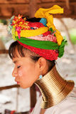 Long neck woman in Thailand Stock Images