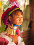 Long neck woman in Thailand Royalty Free Stock Image