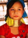 Long neck woman in Thailand Stock Image