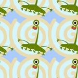 Long necked alien seamless background design Stock Photo