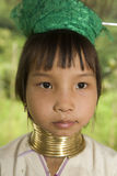 Long-necked hill-tribe women. Living in Northern Part of Thailand Stock Photos