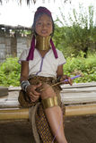 Long-necked hill-tribe women. Living in Northern Part of Thailand Stock Photography