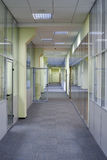 Long office corridor Royalty Free Stock Photos