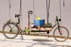 Long old bike Royalty Free Stock Image