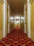 Long old hotel corridor Stock Photo