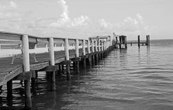 Long, Old Pier Stock Image