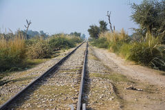Long and old train track 'railroad' Stock Photos