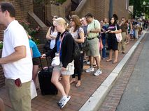 Long One Hour Line Stock Image