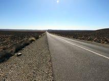 Long open road through the Karoo, South Africa Stock Photos