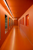 Orange corridor Stock Image