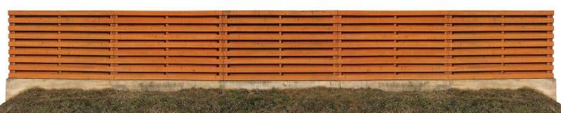 Long orange wooden fence Royalty Free Stock Photo