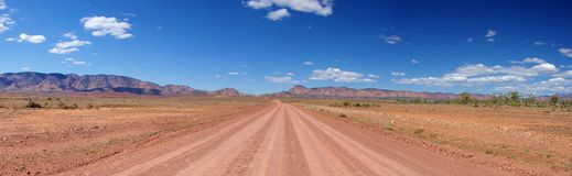 Long Outback Road stock photography