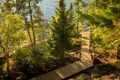 Long Outdoor Staircase To A Dock Stock Images
