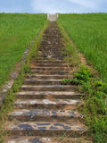 Long outdoor stone steps Royalty Free Stock Photo