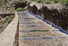 Long Outdoor Stone Steps Royalty Free Stock Images