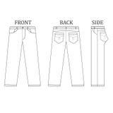 Long pant vector Stock Photos