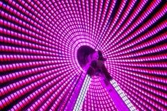 Long parc d'attractions d'exposition de nuit Photographie stock