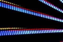 Long parc d'attractions d'exposition de nuit Photo stock