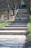 Long park stairs Royalty Free Stock Photo