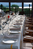 Long party table outdoor Royalty Free Stock Images