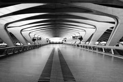Long Passage Way - Modern Architecture Royalty Free Stock Image