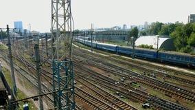 Long passenger train. stock footage