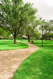 Long Path at Liberty Park Plantaion Royalty Free Stock Image