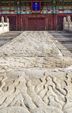 Long Pathway to Temple at Forbidden City of China Royalty Free Stock Images
