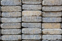 Long Paver Stack Royalty Free Stock Image