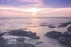 Long paysage d'exposition sur la mer, Thaïlande Image stock