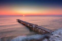 Long paysage marin d'exposition Image libre de droits