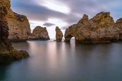 Long paysage marin d'exposition Photos stock