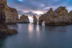 Long paysage marin d'exposition Photo libre de droits