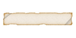Long perchament. Old paper or cloth. White. Royalty Free Stock Image