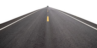 Free Long Perspective Road Isolate On White Background Royalty Free Stock Photography - 99222237