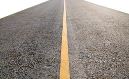 Long Perspective Road isolate on white background Royalty Free Stock Image
