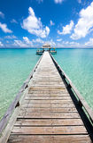 Long pier in the day time Royalty Free Stock Photography