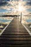 Long Pier Into Water Royalty Free Stock Photos