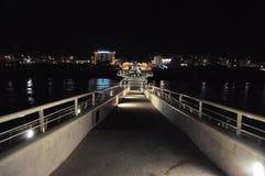 The long pier that plunges into the sea of Viareggio stock photos