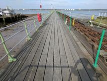 Long pier Royalty Free Stock Images