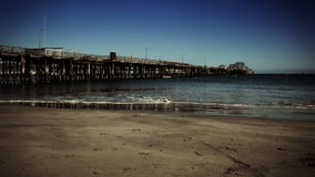 Long Pier On Sunny Day stock video footage