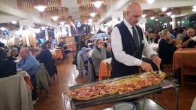 Long pizza Stock Photos