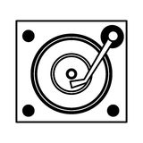 Long play player retro music icon Royalty Free Stock Photo