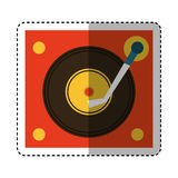 Long play player retro music icon Royalty Free Stock Images