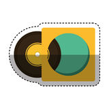 Long play retro music icon Royalty Free Stock Image