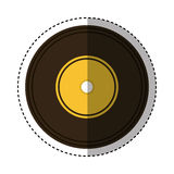 Long play retro music icon Stock Photography