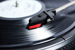 Long playing record. Vinyl is the dominant music format in the 20th century. From your 78-year-old grandmother, a 45-year-old celibate, Vinyl hearing, feeling Royalty Free Stock Images