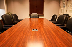 Long Polished Conference Table Royalty Free Stock Photo